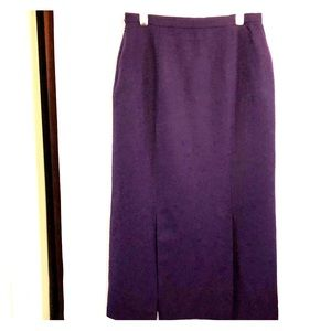 Talbots Woman's Purple Maxi Skirt
